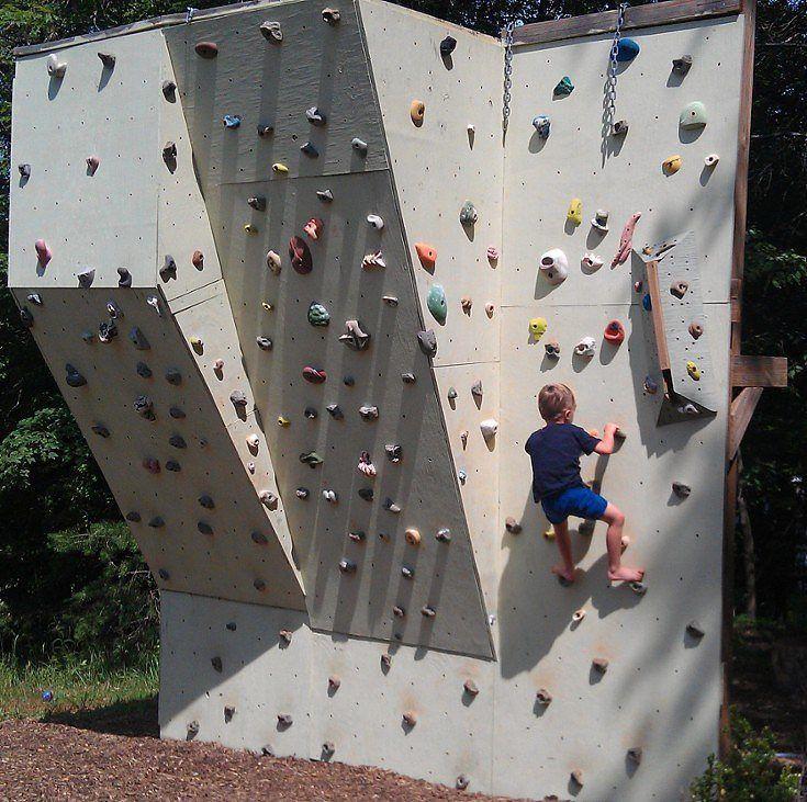 diy rock climbing wall for playset