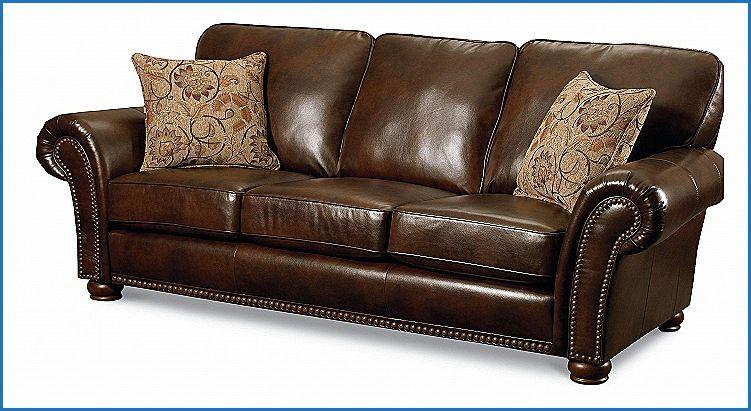 Elegant Lane Leather Sofa Nailhead Furniture Design Ideas