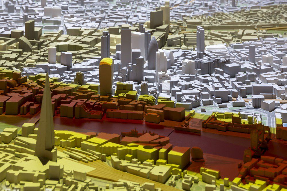 The Future of London Visualized with this Massive, Interactive 3D Printed Model http://3dprint.com/60593/london-3d-printed-model/