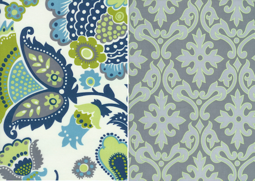 Green And Blue Fabric | New House Designs