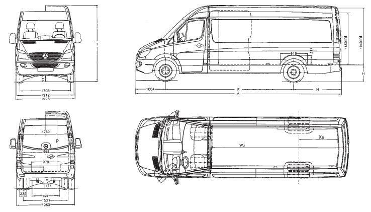 Medidas Furgon Sprinter Buscar Con Google Furgoneta Sprinter