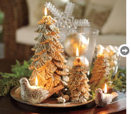 Beautiful Elegant Tree Candles