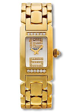 Audemars Piguet Promesse Womens Mini Watch 18k Yellow Gold White Diamond Dial Diamond Beze