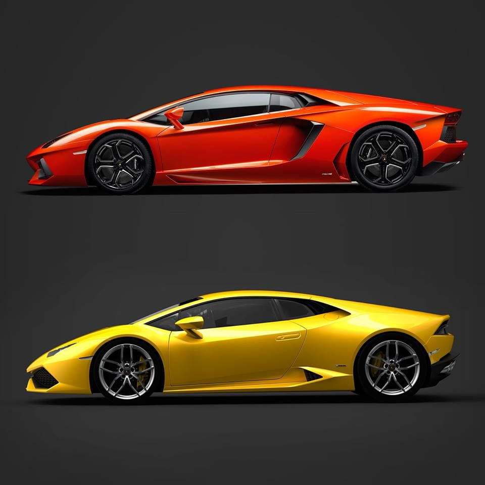 Another Sideview Comparison: The Aventador Vs The Huracán