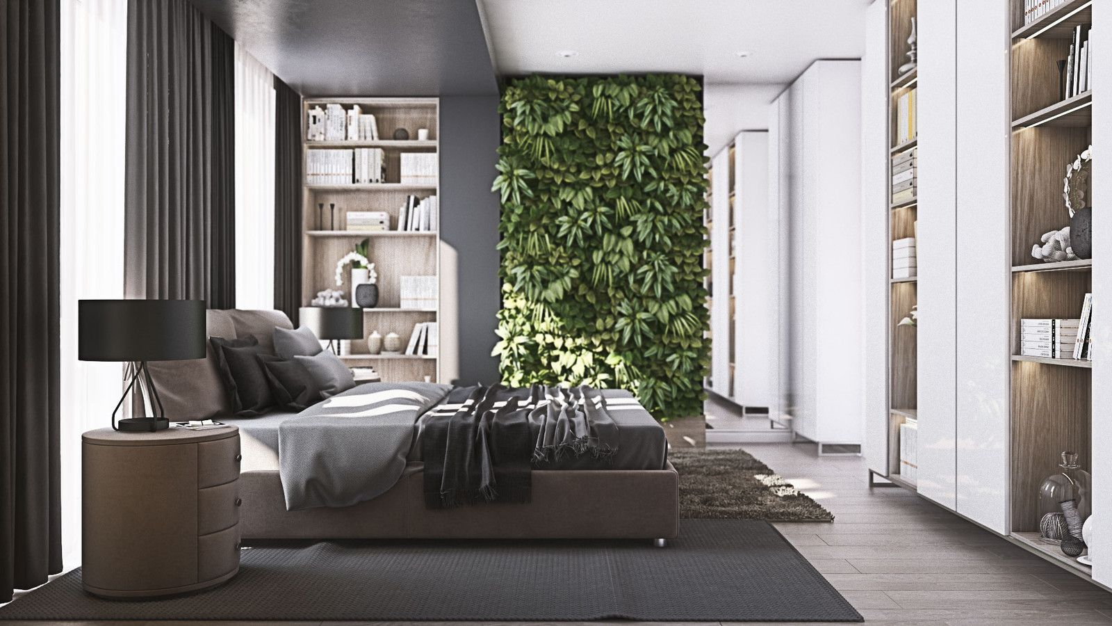 Master Bedroom  Black Oak  Musa Studio  Architecture And Adorable One Bedroom Apartment Designs Example Decorating Inspiration