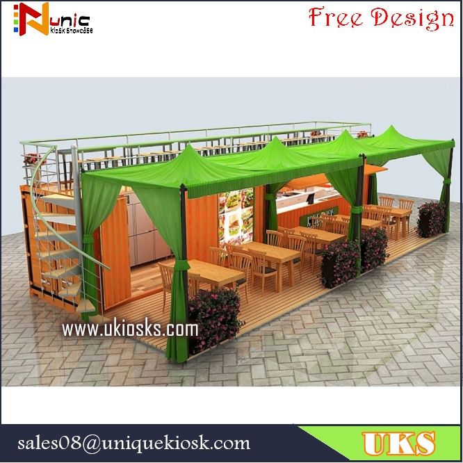 40feet Container Shop Design Coffee Shop Design For Outdoor Mall Kiosks Food Carts Display Showcase Wood Cabi Container Shop Container Cafe Coffee Shop Design