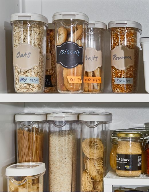 IKEA 365+ Dry Food Jar Containers Are BPA Free And Made Of Clear Acrylic  Plastic So You Can See Oat, Biscuit, And Cereal Supply. The Rubber Tops Mau2026