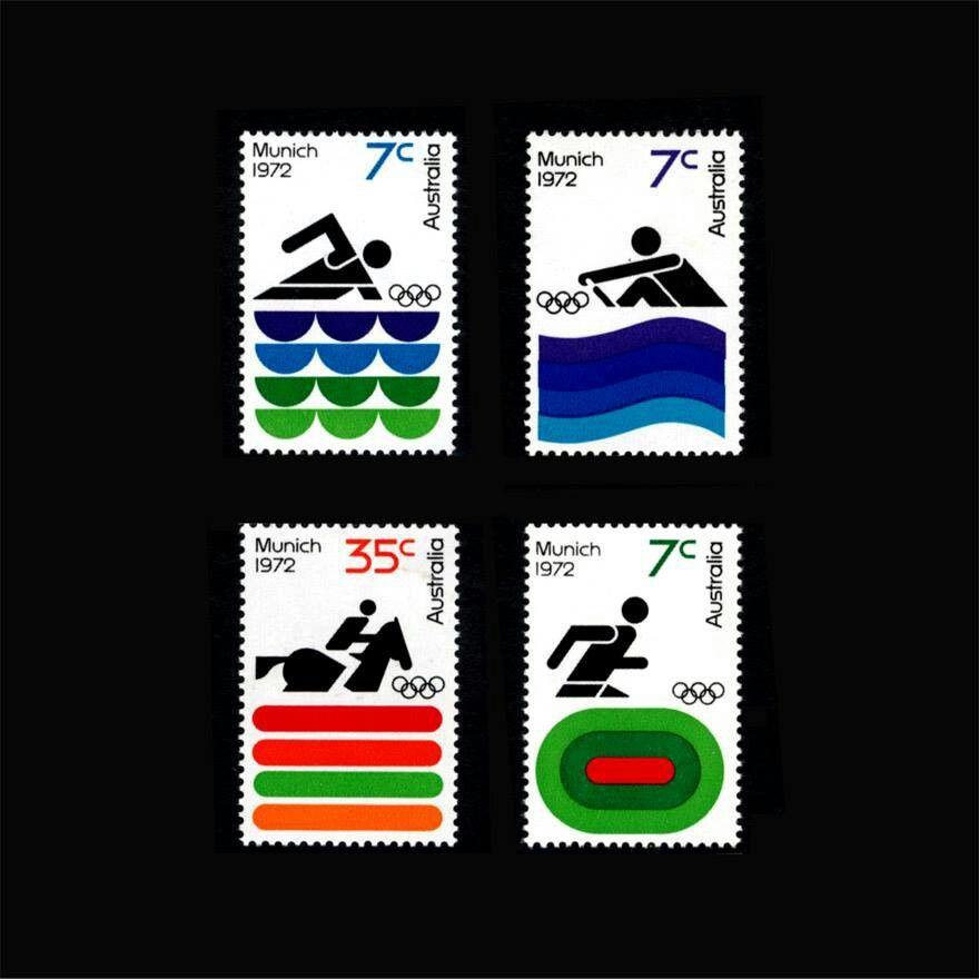 Munich 1972 Stamps. Brian Sadgrove