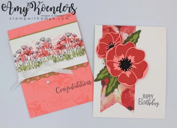 Stampin Up Painted Poppies Peaceful Moments For The Inkin Krew Team Meeting Poppy Cards Floral Cards Stampin Up Cards