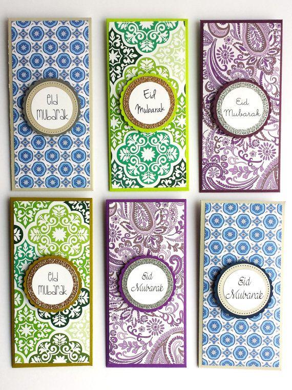 set of 6 eid money holders eidi eid mubarak money