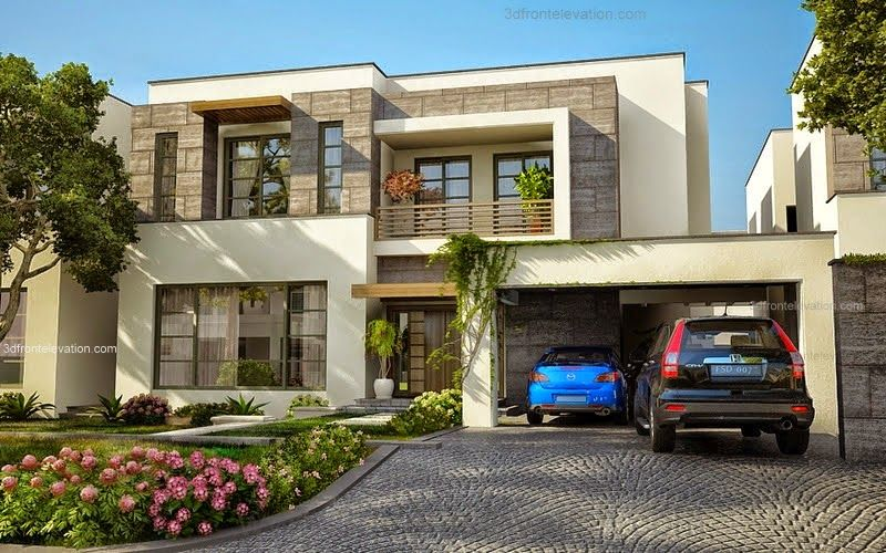 3d front modern house plans house designs for Modern luxury house plans and designs