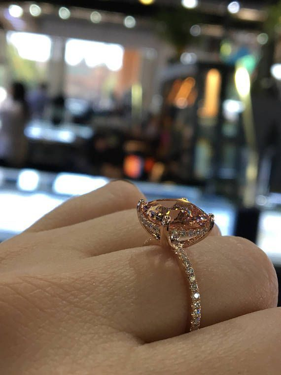 Up for sale is a beautiful 14K Rose Gold Natural Morganite and Diamond Under Halo Diamond Engagement Ring.  Round Brilliant Diamond Total weight 0.45 Carats. Color F-G Clarity SI.  Center Stone Cushion Cut 3.77 Carats Clarity: VS Color: Pink  Specifications: -Model #: SJ4000LAM -Metal #halorings