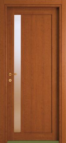 Porte interne modello 1F.1V Vert in legno listellare. Rivestimento ...