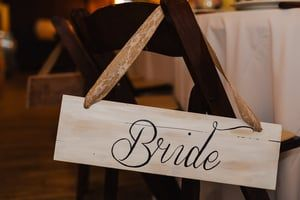 Painted this chair sign for our wedding. Love how it turned out!  Photo taken by Buck Deitz Photography http://www.buckdeitzphotography.com/