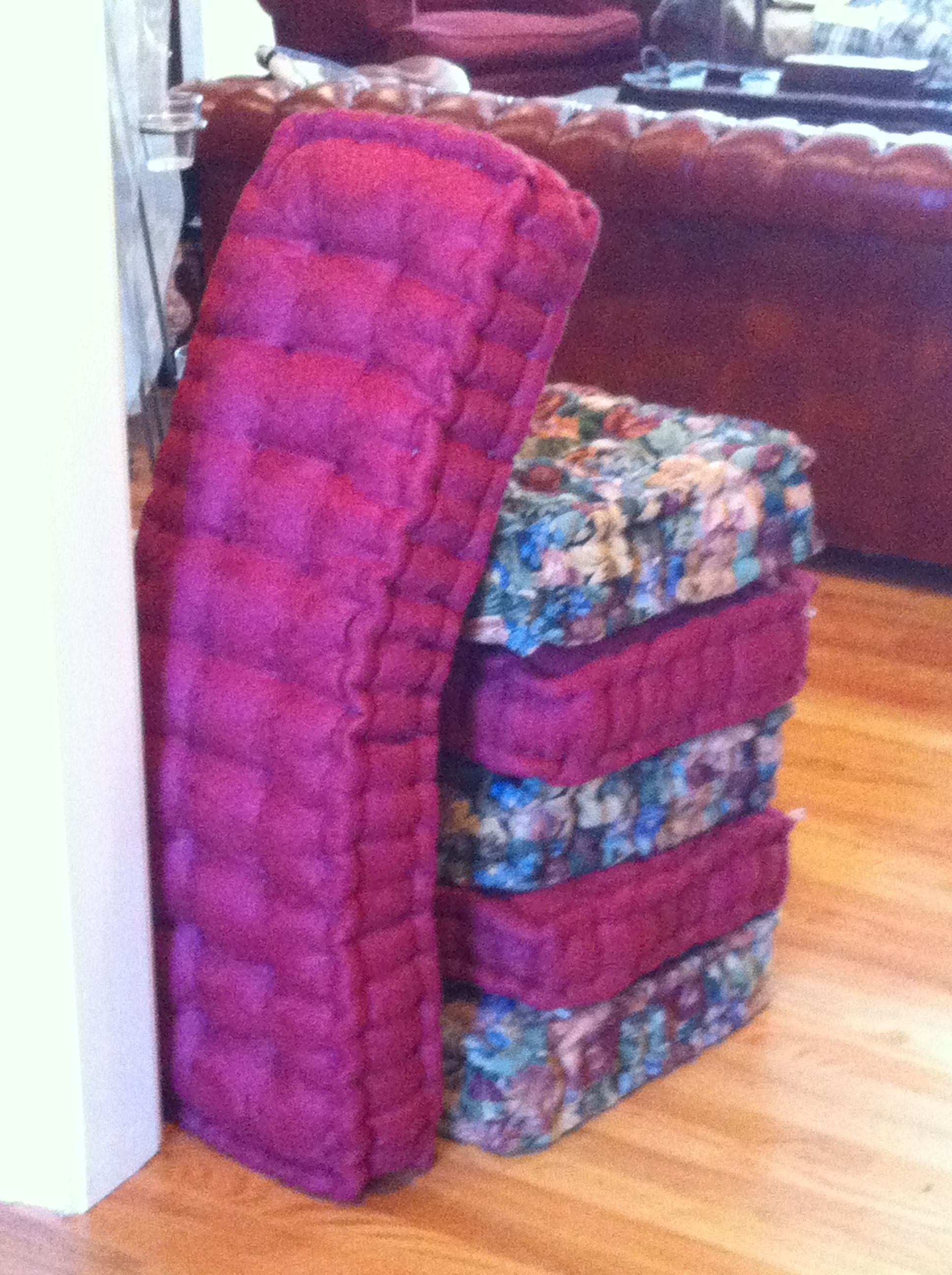 Diy french mattress cushions for our little mountain cabin