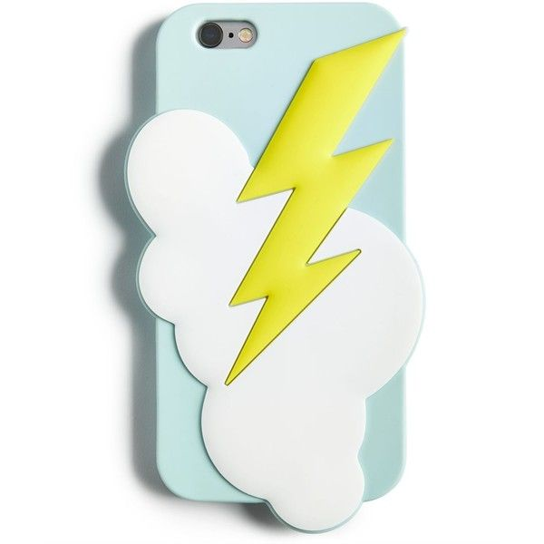 Celebrate Shop Lightning Bolt iPhone 6/6s Case, ($4.93) ❤ liked on Polyvore featuring accessories, tech accessories and multi