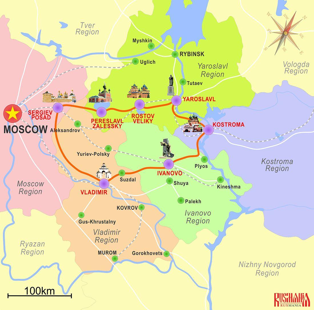 Golden Ring Of Russia Rusmania Com Imagens