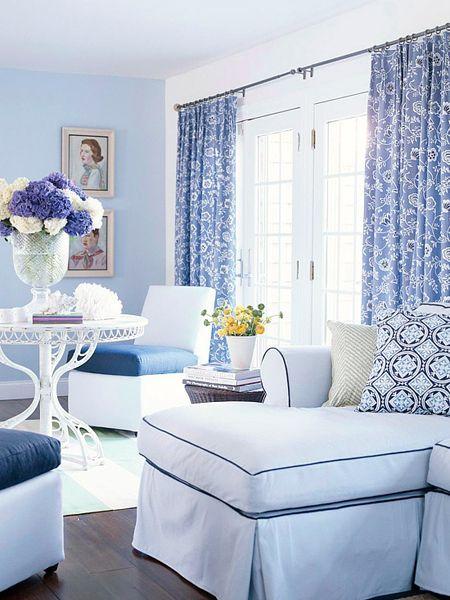Monochromatic Blue Room In A Monochromatic Color