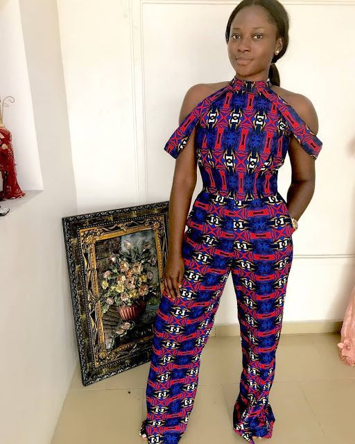 85340295bb1e Ama k abebrese in african print jumpsuit African fashion Ankara