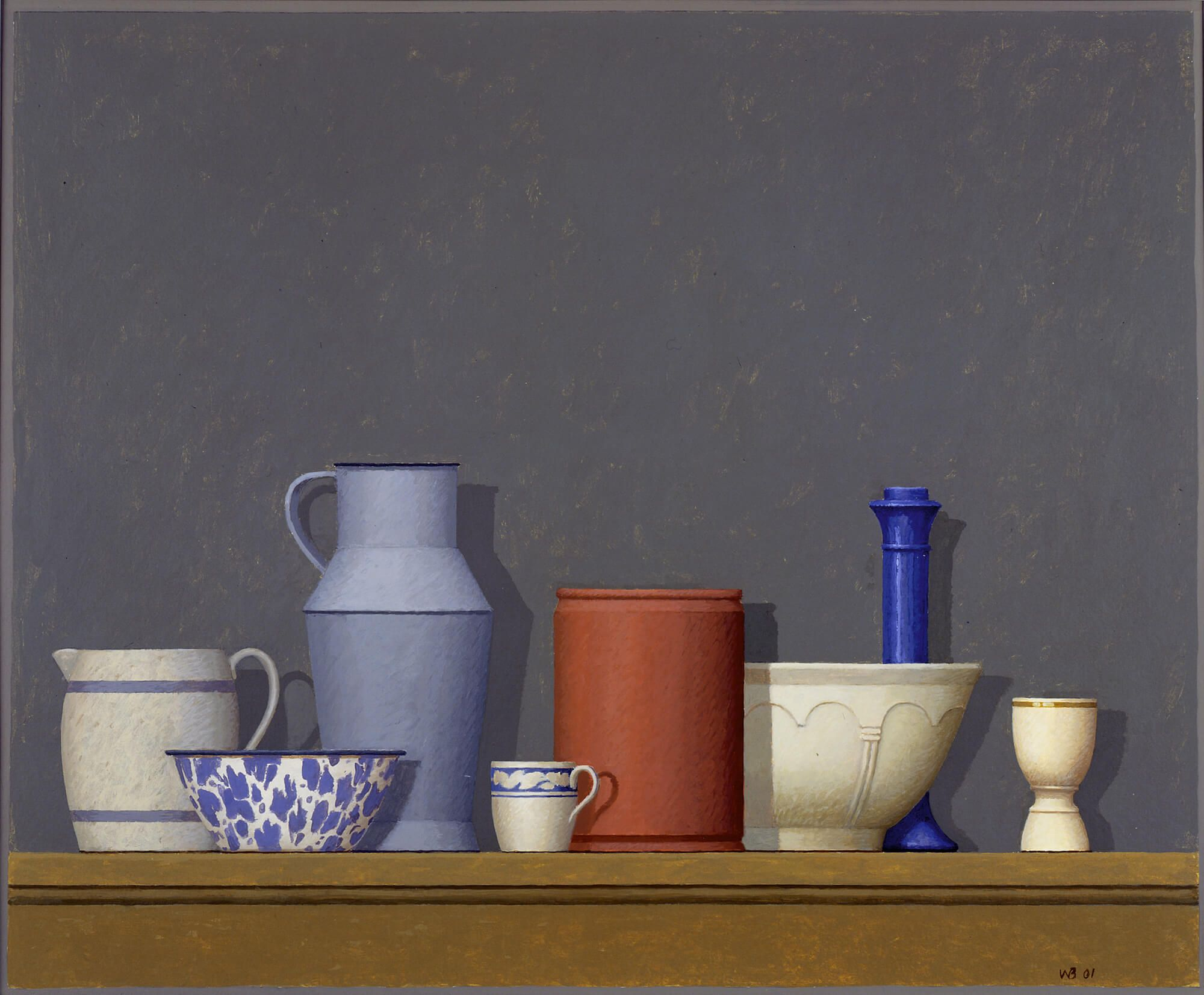 William Bailey, Pianello, 2001, tempera on paper 18 x 22 inches (courtesy of the artist and Betty Cuningham Gallery)