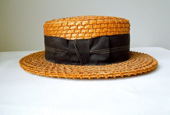 17d461f8e Vintage Straw Boater Hat Coco Chanel | Girl's Got Style... | Chanel ...