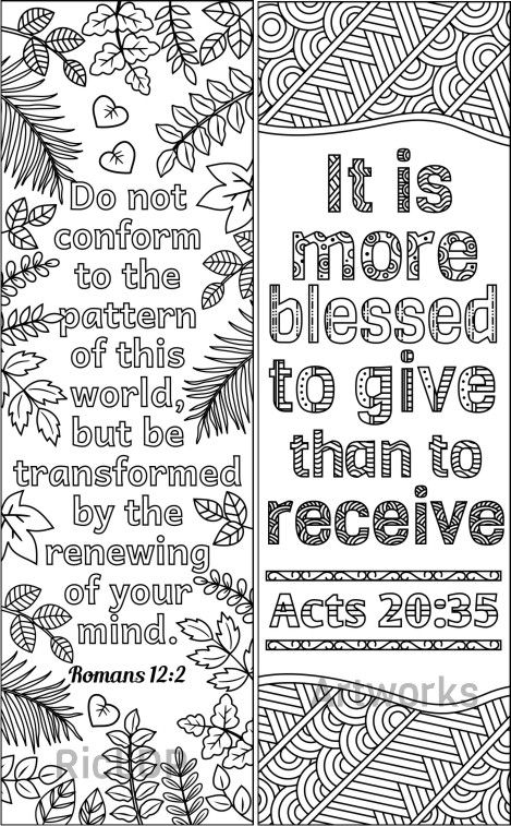 8 Bible Coloring Bookmarks Set 2 Coloring Pages Bible Coloring