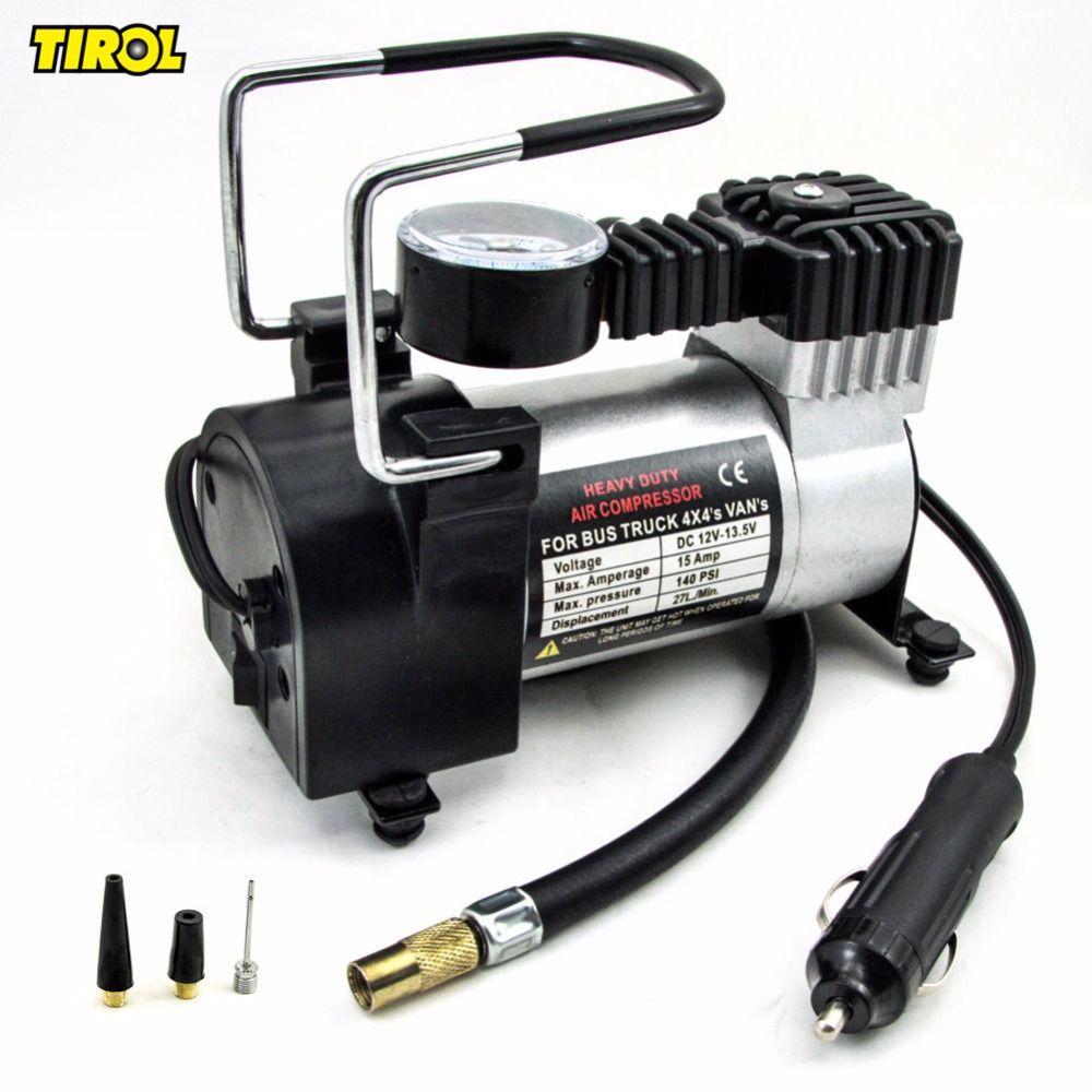 Car Van Air Compressor Heavy duty 12V 150 PSI Electric Pump Tire Inflator tool
