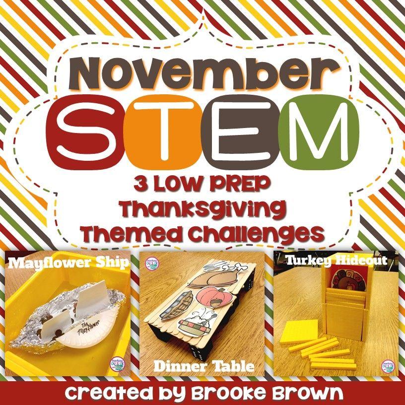 Thanksgiving STEM Challenges (November) Stem challenges