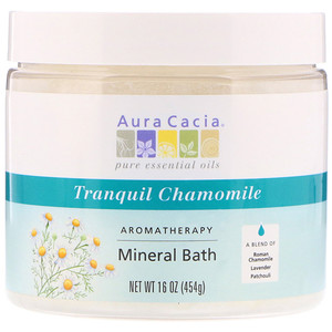 Aura Cacia Aromatherapy Mineral Bath Tranquil Chamomile 16 Oz 454 G Paraben Free Products Aromatherapy Aura Cacia