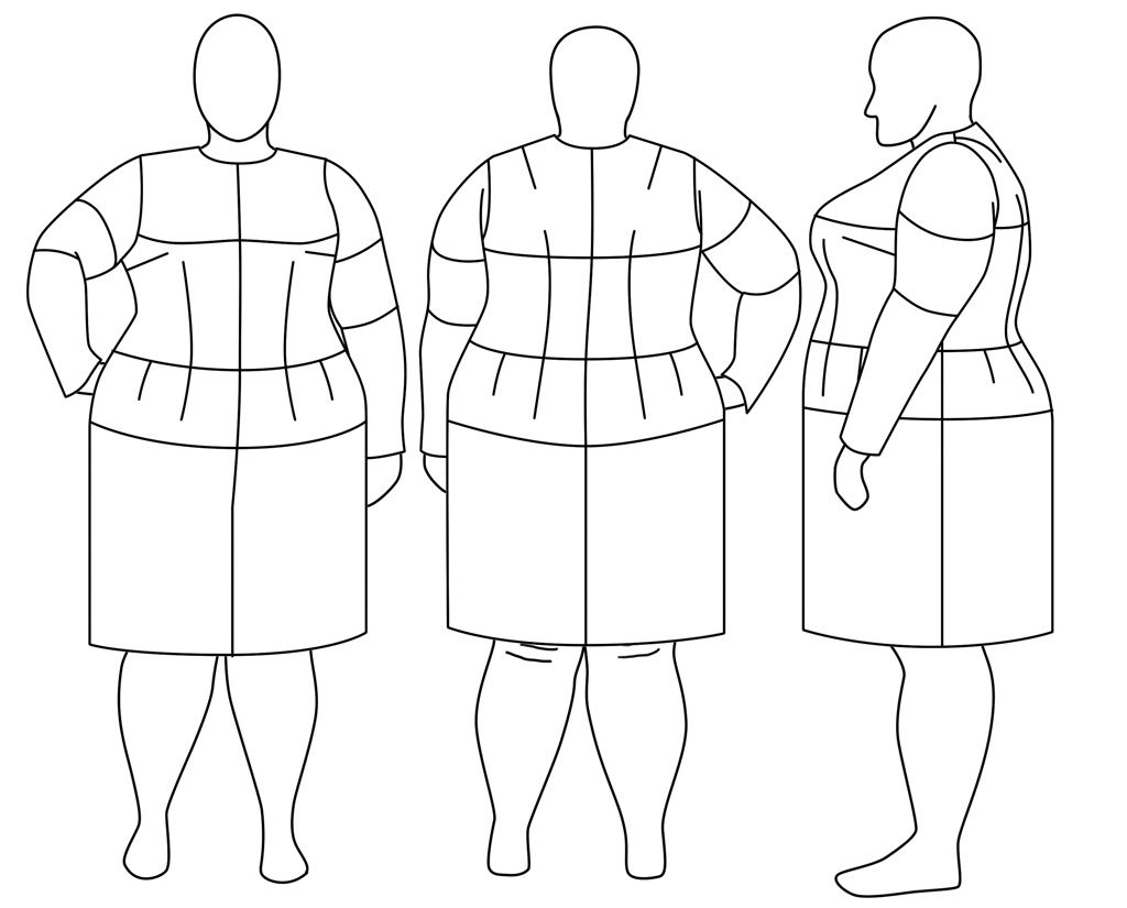 Plus size fashion croquis templates think, you