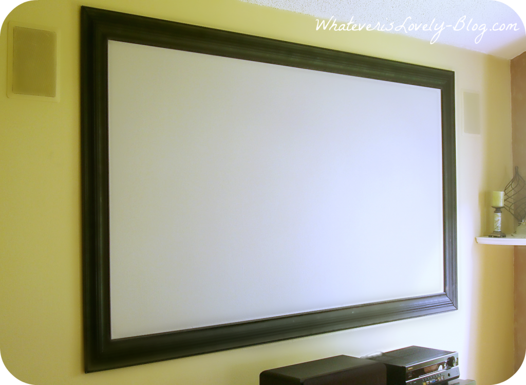 Framed Projector Screen 2 Home Theater Screens Home Theater Setup At Home Movie Theater