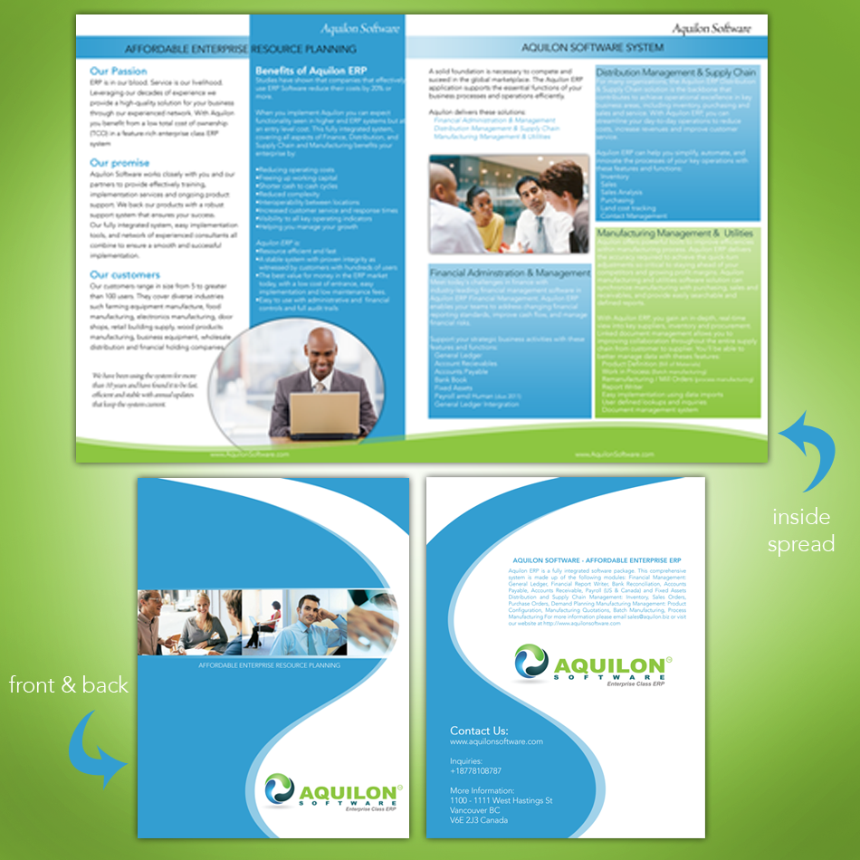 2 page brochure