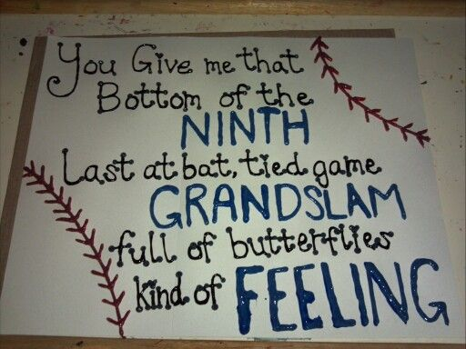 Super cute for all the baseball fans in <3