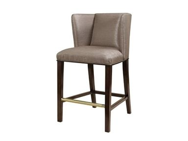 Shop For Maitland Smith London Mahogany Finished Barstool Mocha Fabric Upholstery Champagne Silver Brass Ac At Home Furniture Store Home Furniture Bar Stools