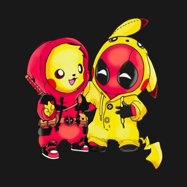 ピカチュウポケモンDeadpool Pikapool Tシャツ-Deadpool Deadpool2-Tシャツ|T… - Anime and Pokemon World 2020