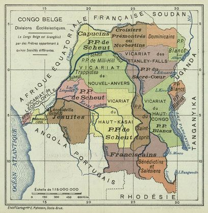 belgian congo africa map