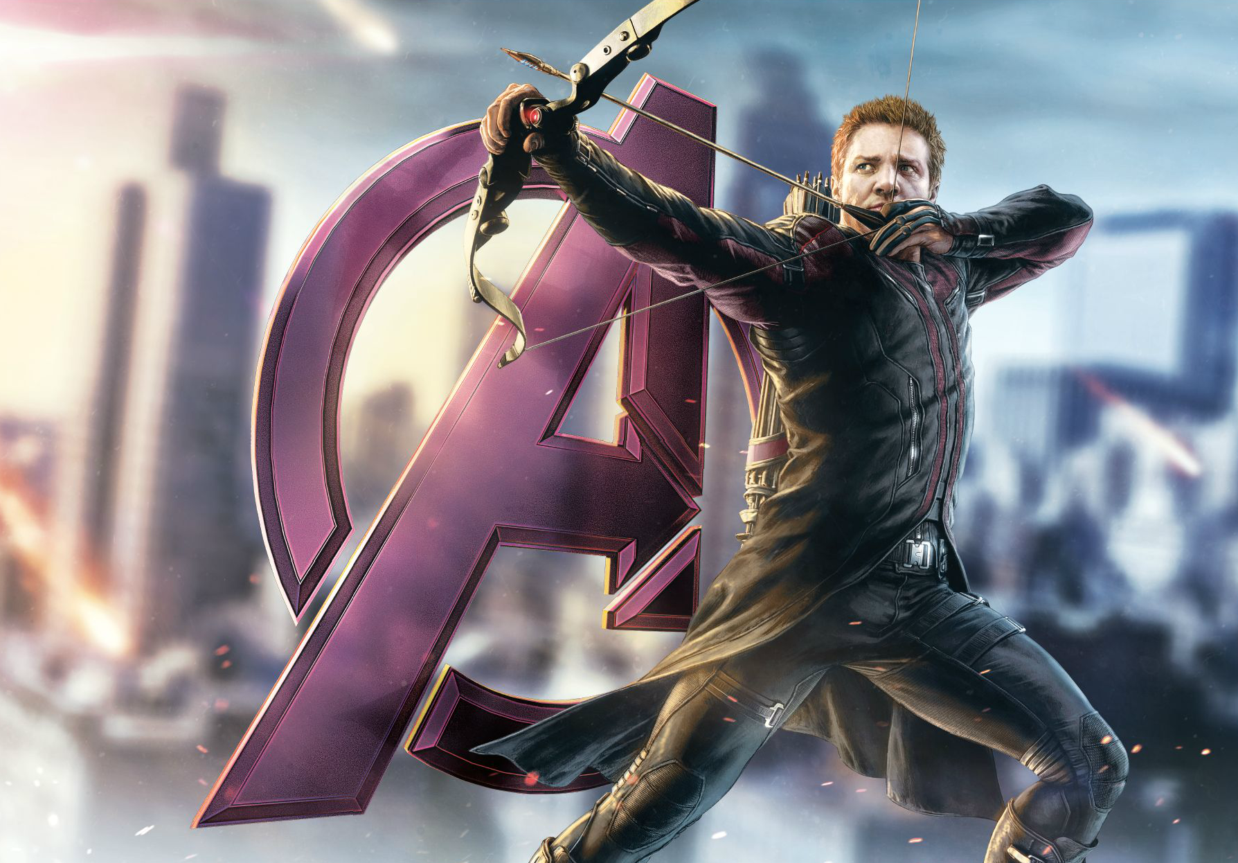 Hawkeye AVENGERS AGE OF ULTRON Wall Decal Promo Art. コミコン