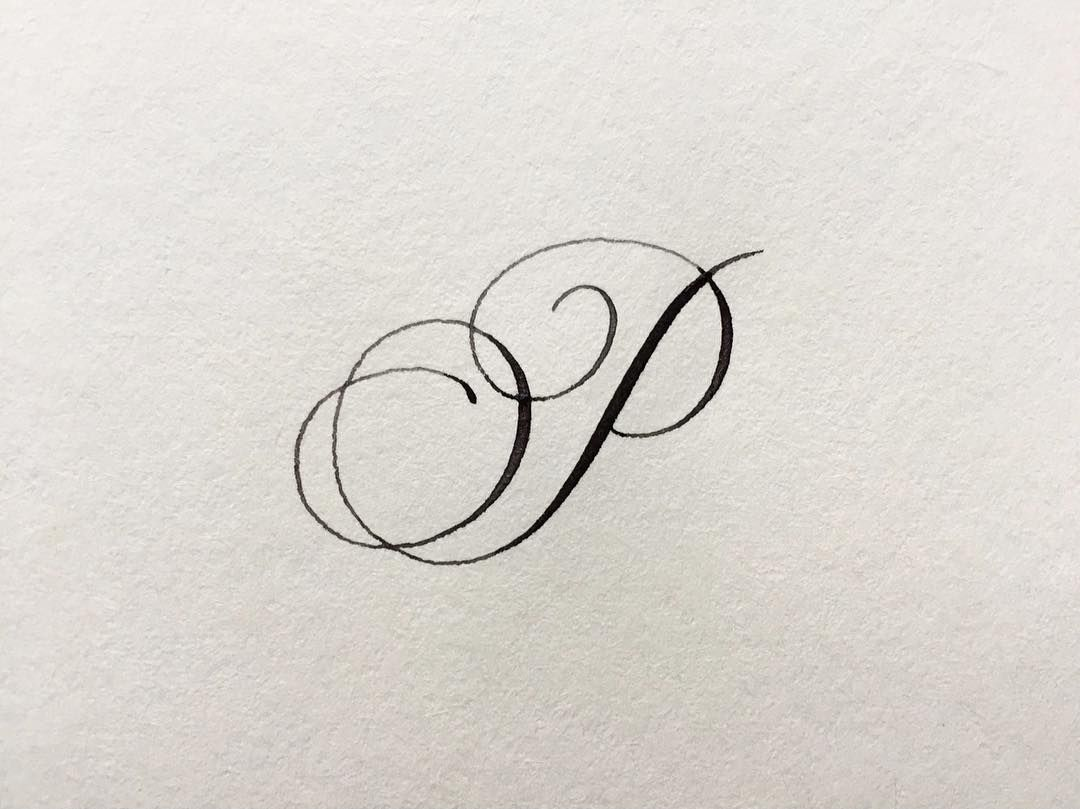 day 16 of #handletteredabcs_2018 — letter 'p