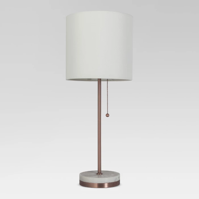 Marble Topped Free Standing Floor Lamp