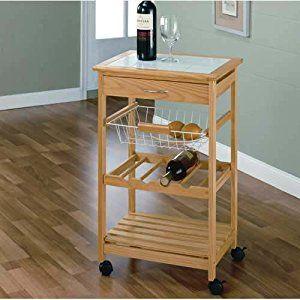 Neu Home Kitchen Cart W 1 Basket Wine Rack Decoración De Apartamentos Decoración De Unas Apartamentos