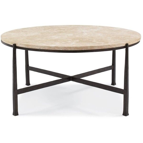 Norfolk Loft Round Metal Stone Patio Coffee Table 2 070 Aud Liked On Polyvore Featuring Home Outdoors Furniture Outdoor Tables