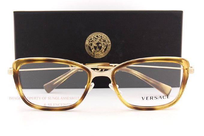 6153e252c649 1243 Color  1400 (HAVANA GOLD). VERSACE Eyeglasses Frames. Original VERSACE  Trademark Case
