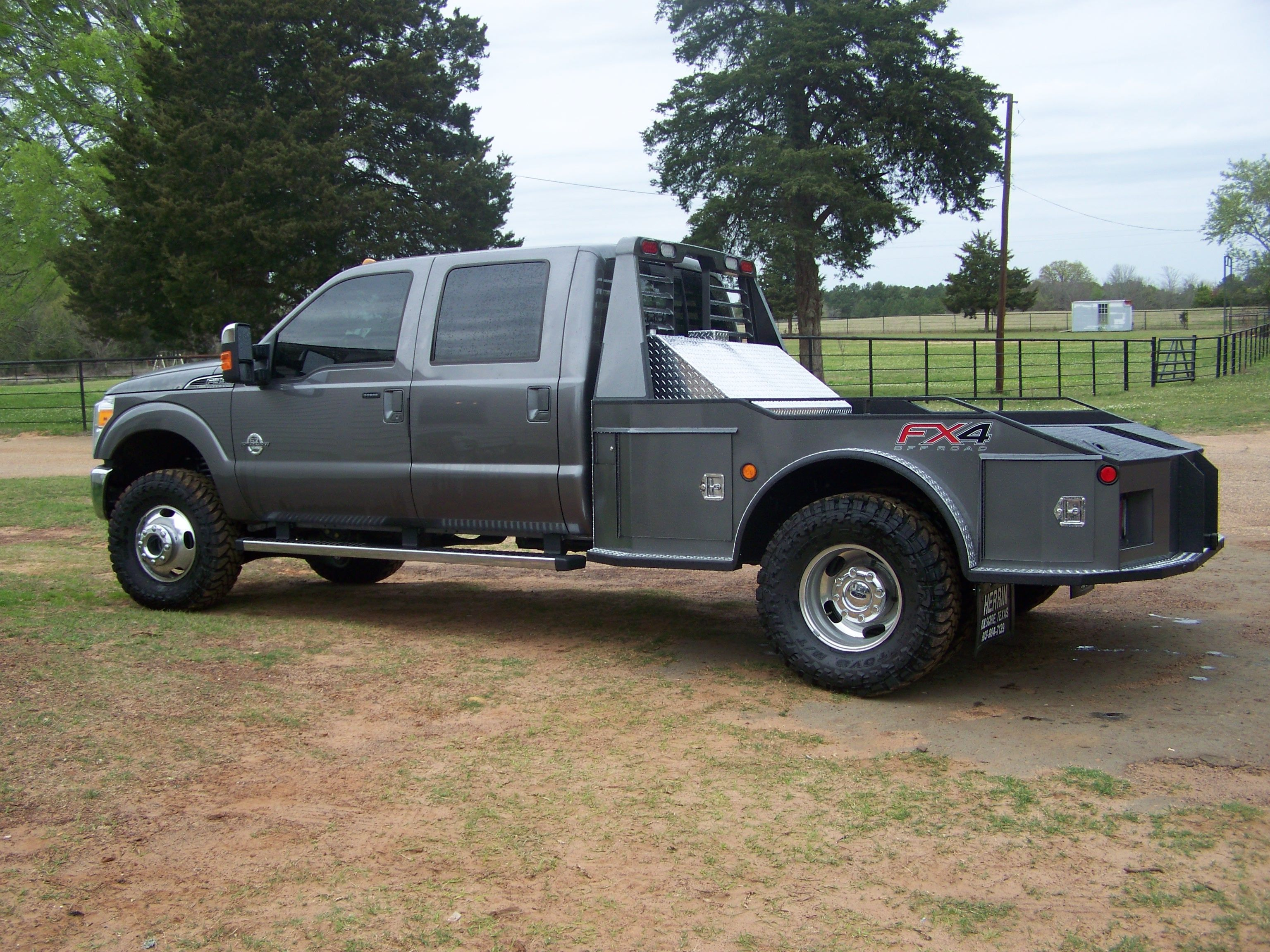 small resolution of f 350 4wd 4 door cm flat bed w fuel tank goose neck hitch w receiver hitch landscape davison