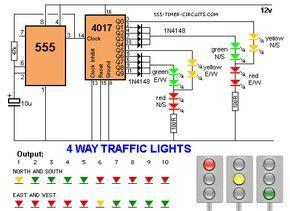eb477f604f8ca47001ac946fcb6e0034 4 way traffic lights diagram ports pinterest electronics