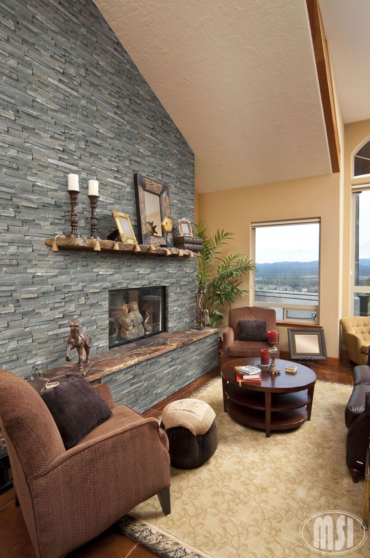 ledger-panels-sierra-blue | Home | Pinterest | Wood stove surround ...