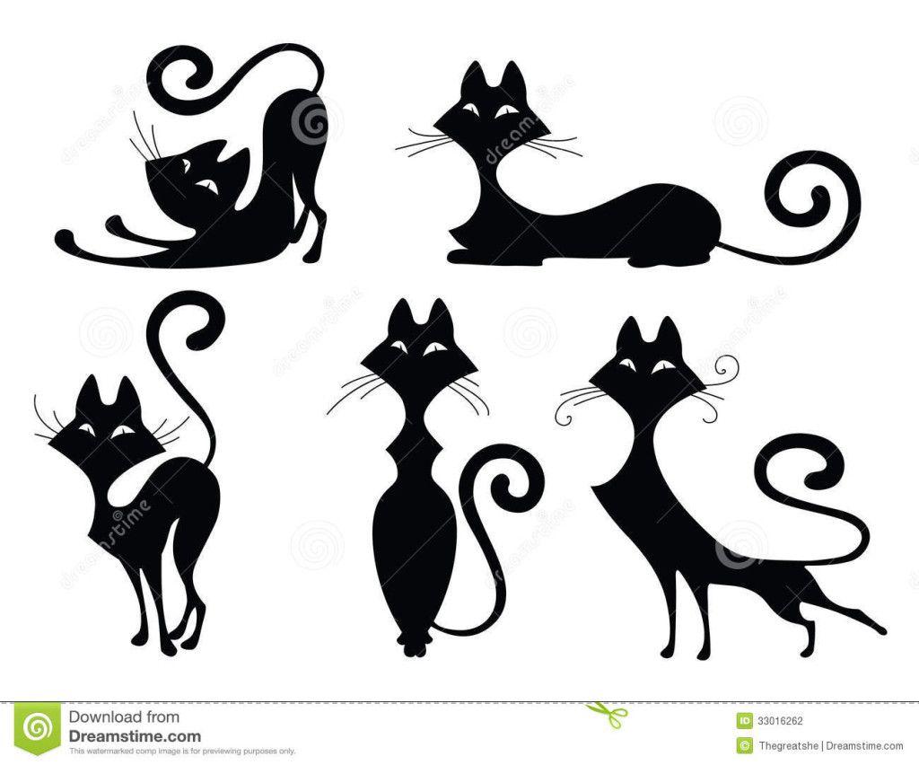 Pingl par monica crea sur chat pinterest chats porcelaine et dessin de chat - Tatouage silhouette chat ...
