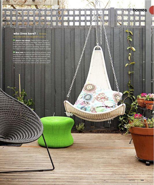 swing chair   Krafty   Hanging chair, Rattan garden ...