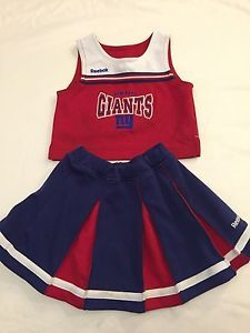Reebok 4T Girls New York Giants Cheerleader Outfit Skirt and Top | eBay & Reebok 4T Girls New York Giants Cheerleader Outfit Skirt and Top ...