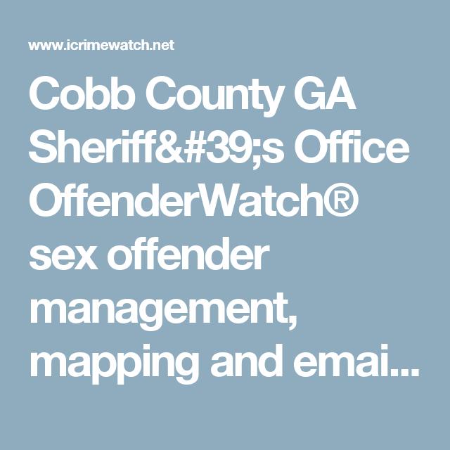 sex cobb county offenders georgia