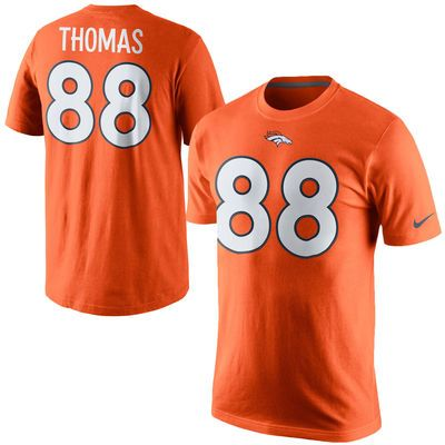 b4473b72e51 ... L Mens Denver Broncos Demaryius Thomas Nike Orange Player Name Number T-  Shirt ...
